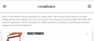 Affiliate program that pays daily - Mobidea Affiliate Review